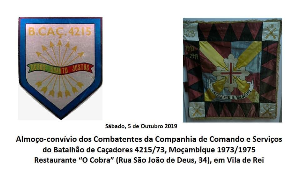 Almoço dos Combatentes da CCS do BCaç4215