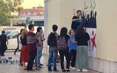 "Bloco de Esquerda vandalizou parede do ""Técnico"""