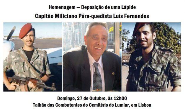Deposição de uma Lápide Capitão Pára-quedista Luís Fernandes