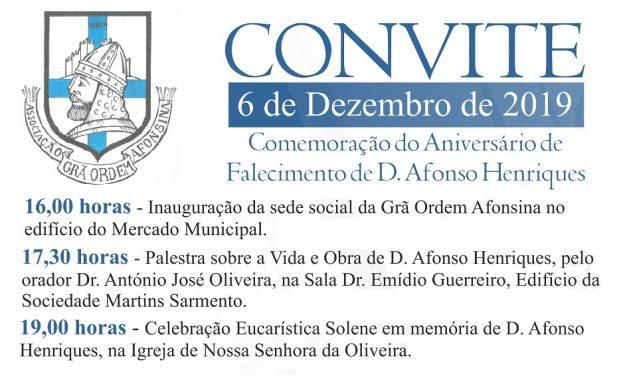 Comemoração do aniversário do falecimento de D. Afonso Henriques